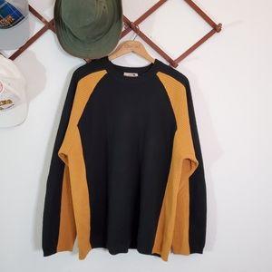 Retro Y2K Obermeyer Wool Blend Ribbed Ski Sweater